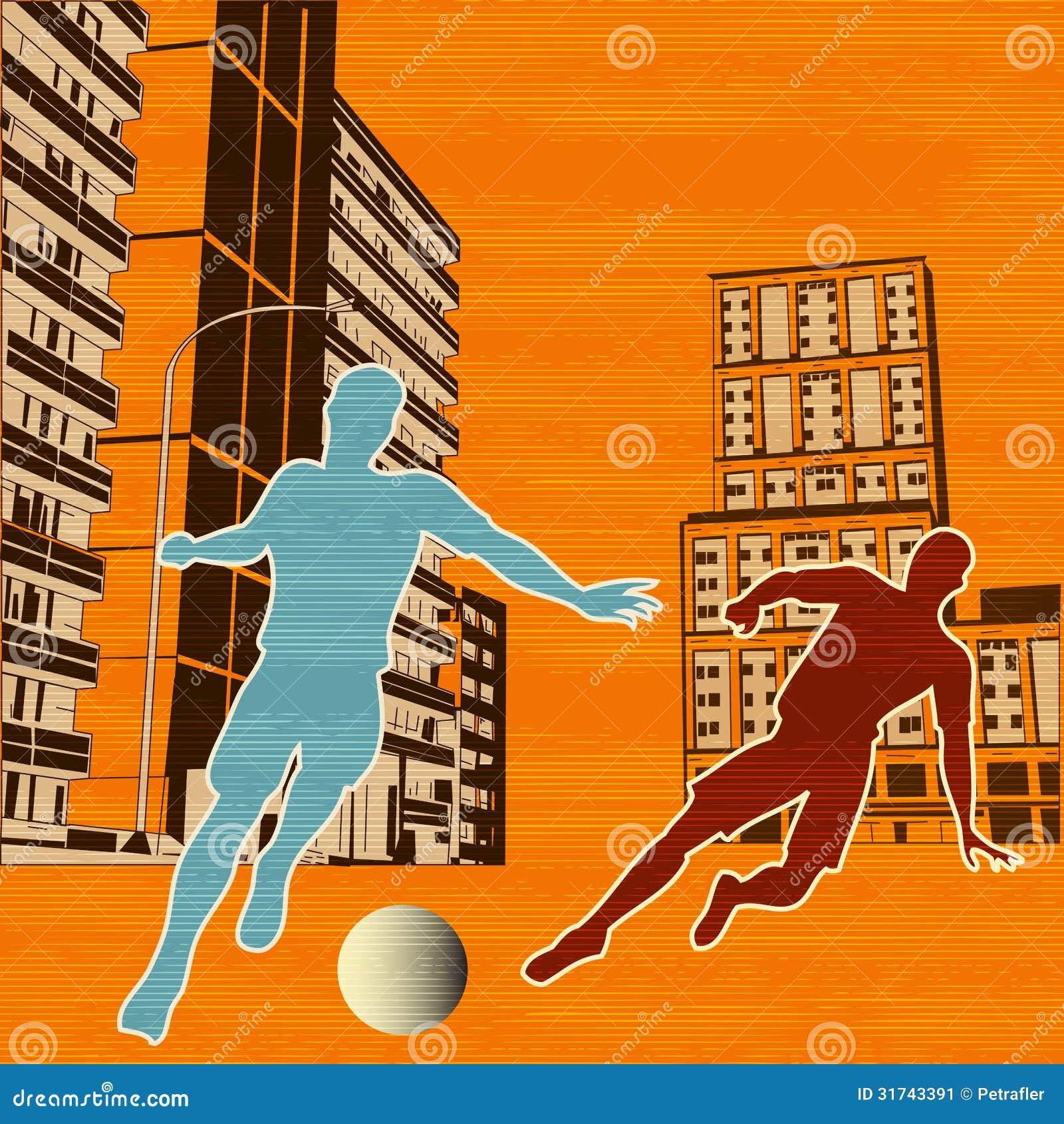 Players Club Apartments: Street Football Stock Vector. Illustration Of Metropolis