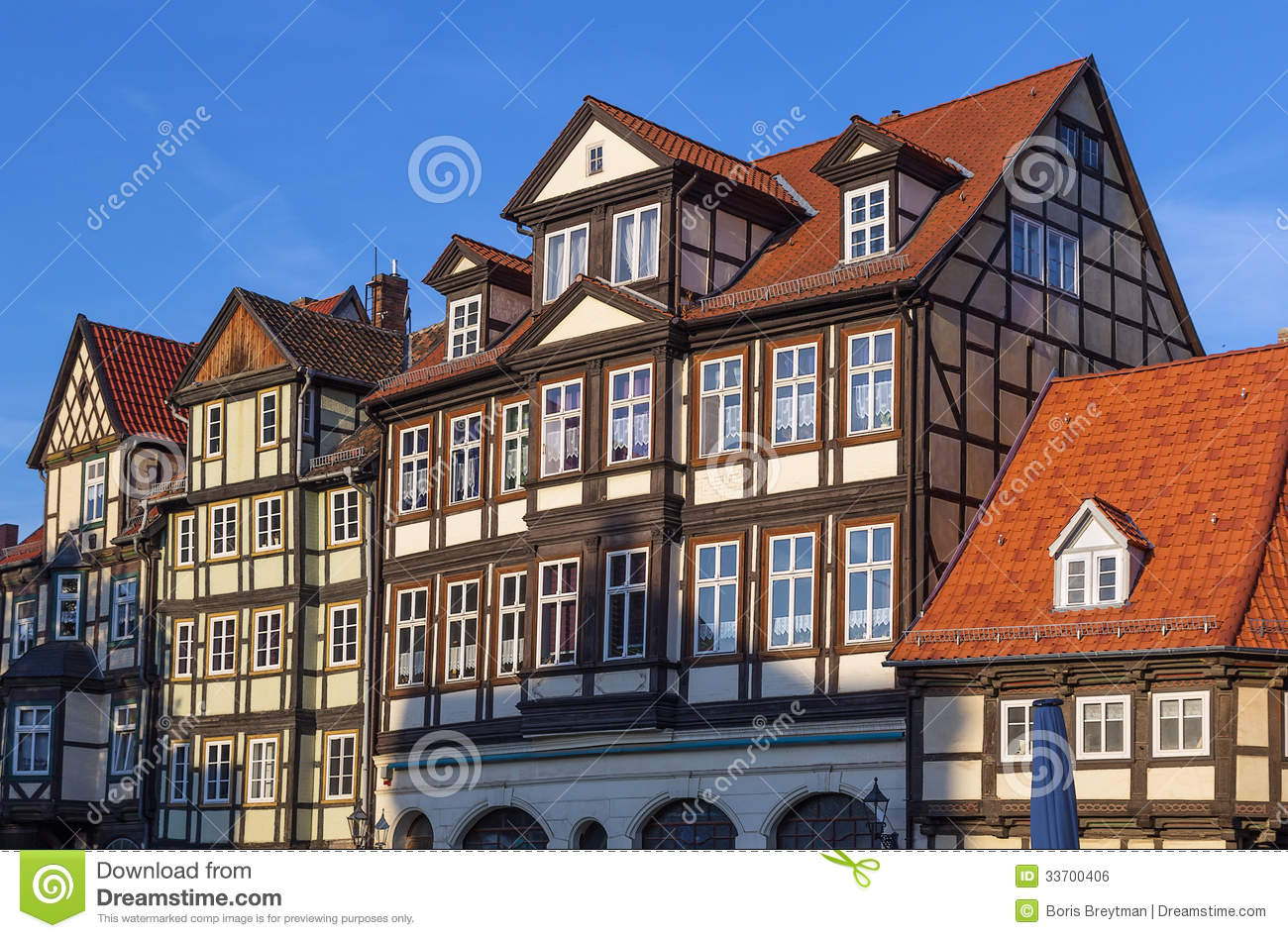 The street with half timbered houses in quedlinburg for Half timbered house plans