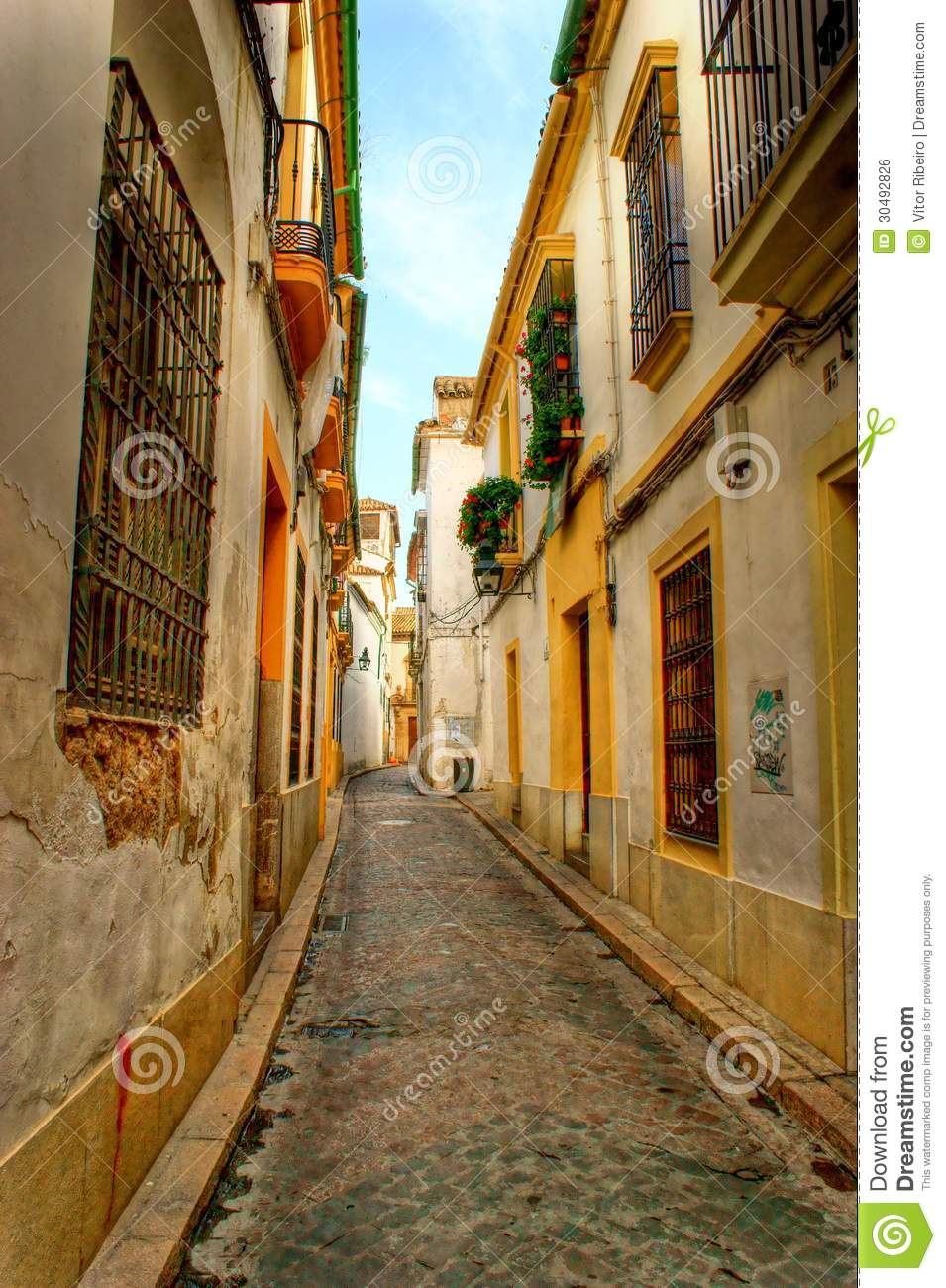 Street of jewish quarter in Cordoba