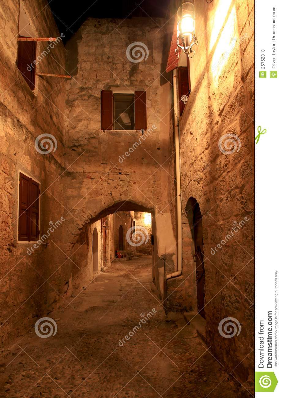 The Street Of The Knights Royalty Free Stock Photos ...