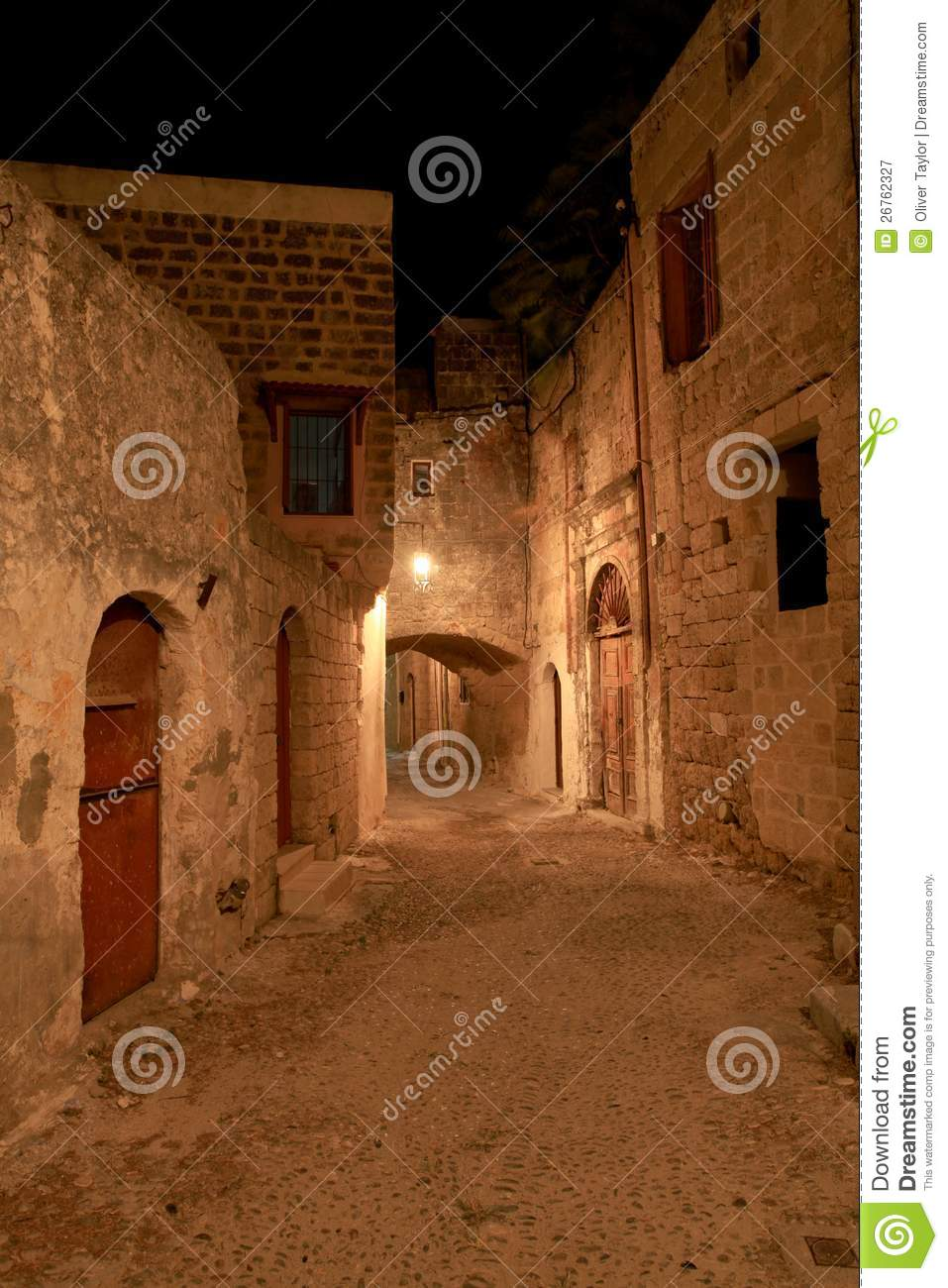 The Street Of The Knights Royalty Free Stock Photography ...