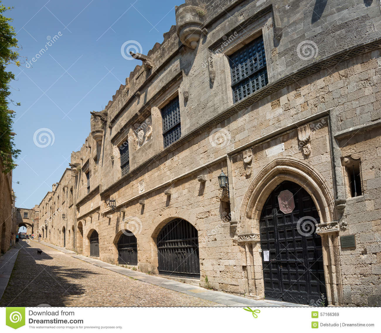 Street Of The Knights, Rhodes Stock Photo - Image: 57166369