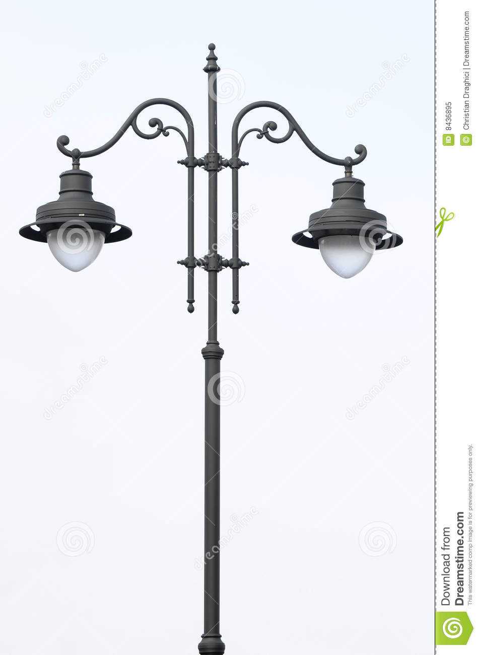 how to draw an old fashioned lamp post