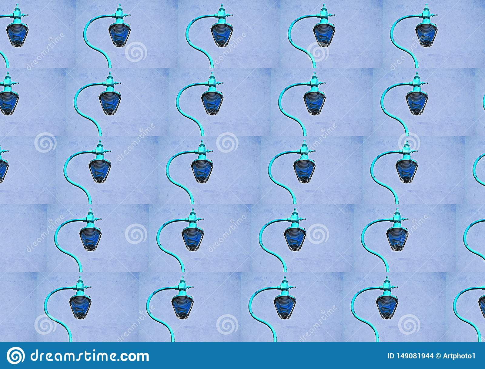 Street lamp repeating pattern Turquoise