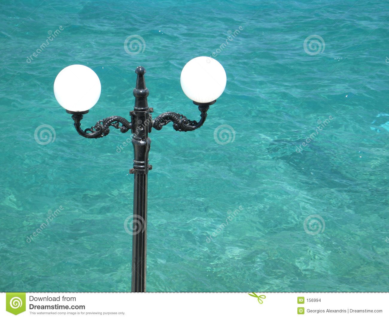 Street Lamp and the Sea