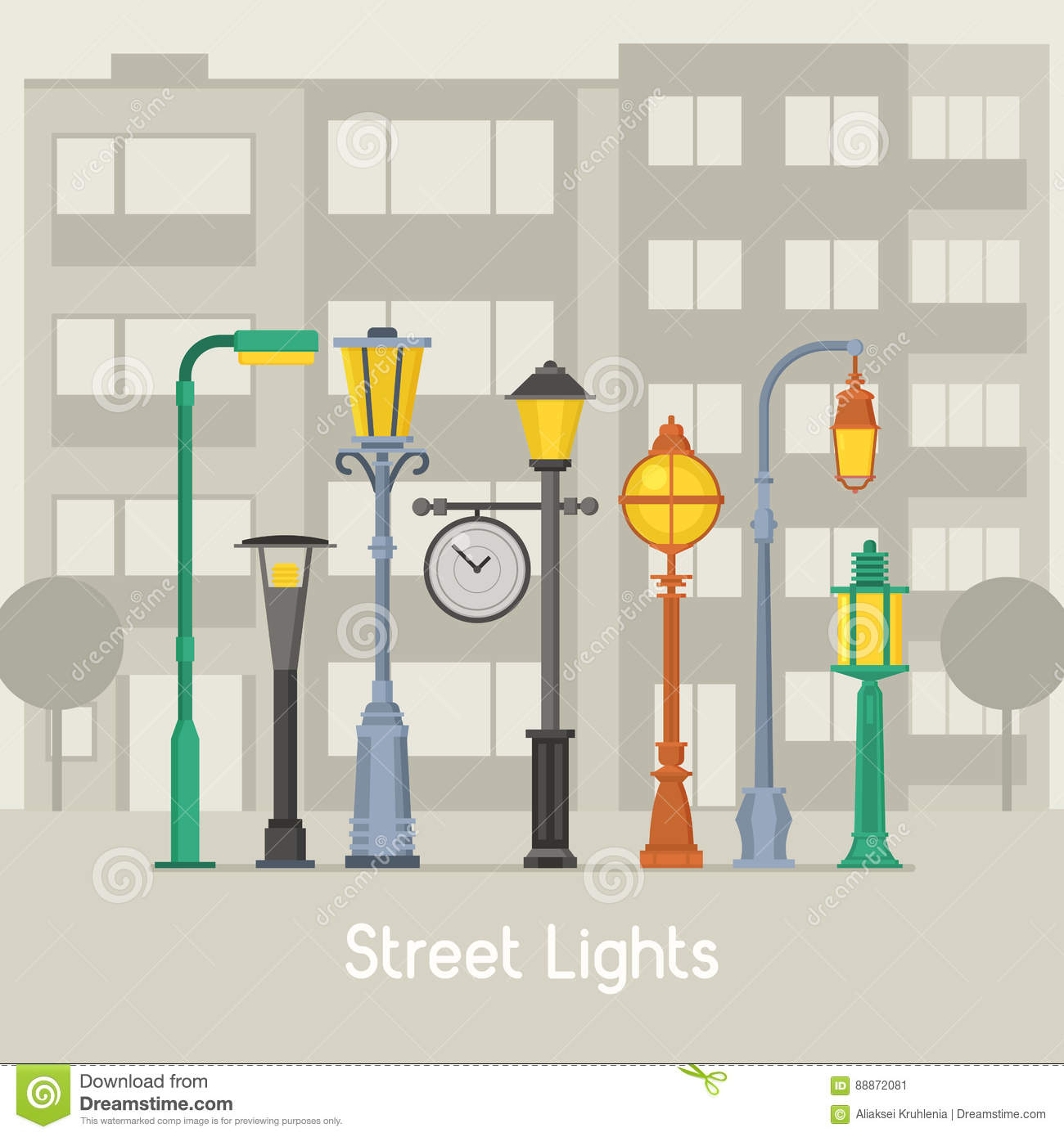 Street Lamps and Lamp Posts Banner