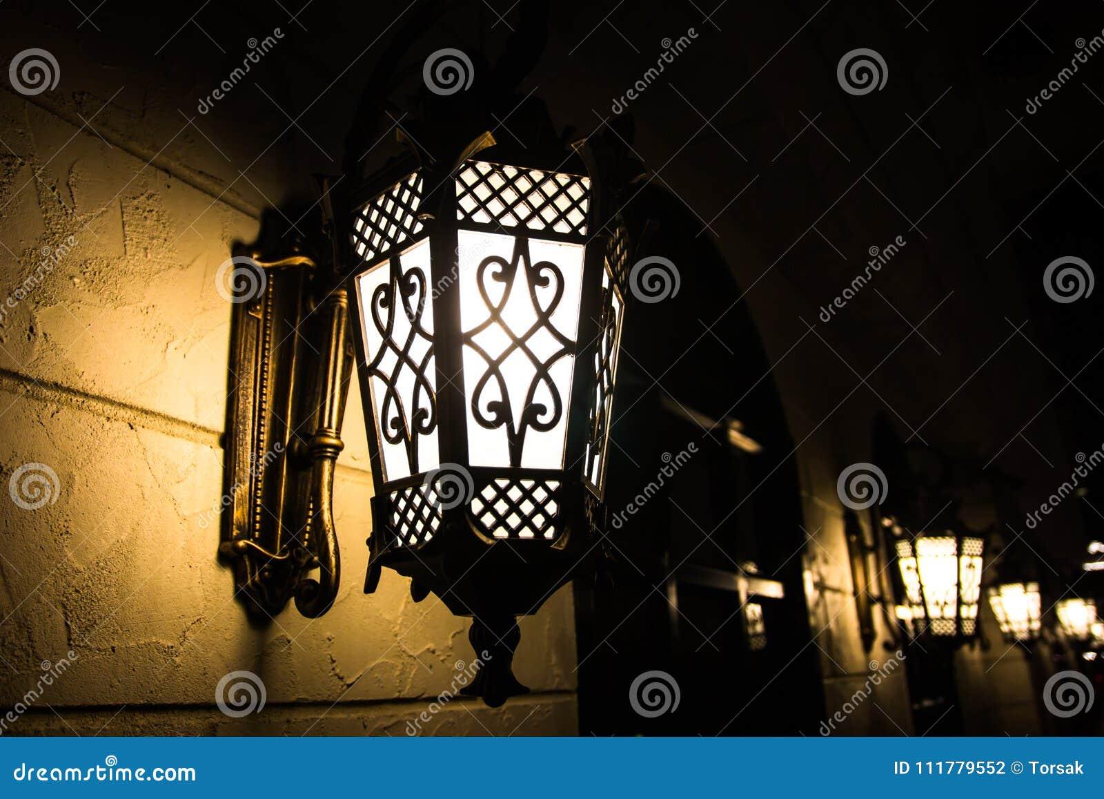 Light bulb on wall