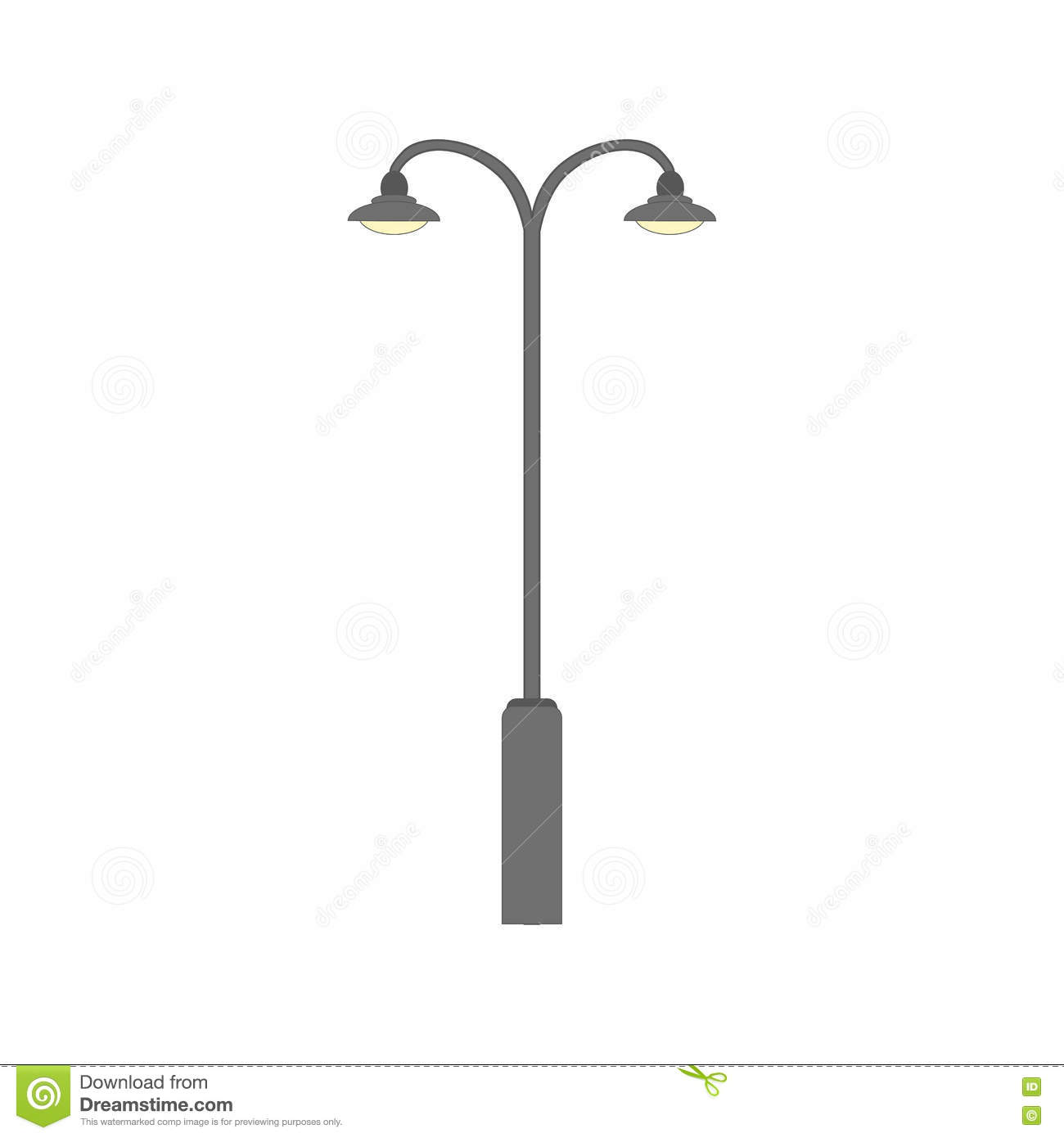Street Light Silhouette. Flat Road Lamp Symbol Icon. Vector ... for Street Lamp Post Vector  150ifm