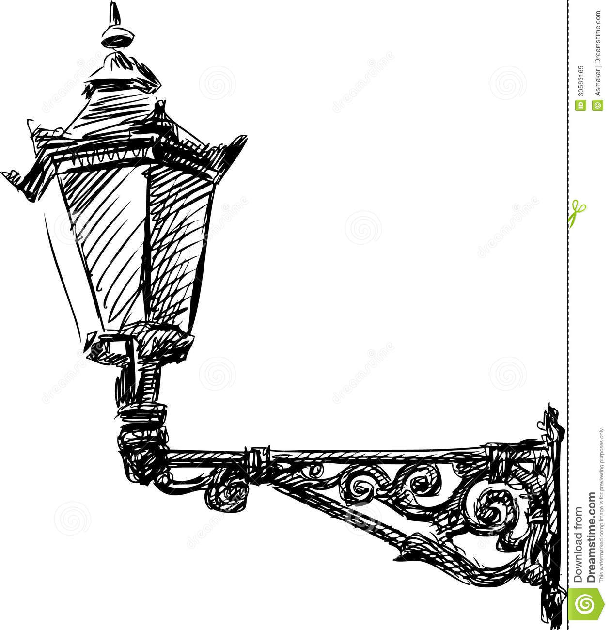 Street light stock image. Image of doodle, lamp, street - 30563165 for Street Light Drawing  75tgx