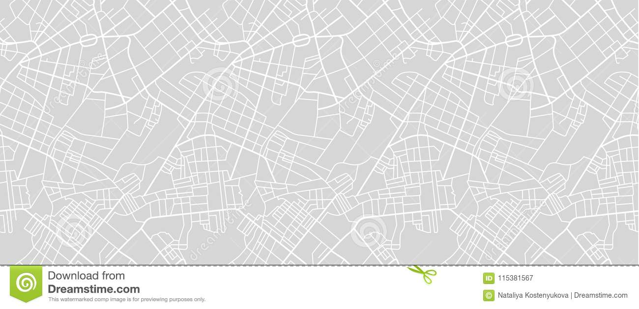 Street map of town