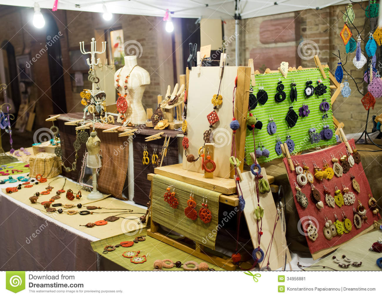 Exhibition Stand Activities : Street market for the halloween holiday editorial photo