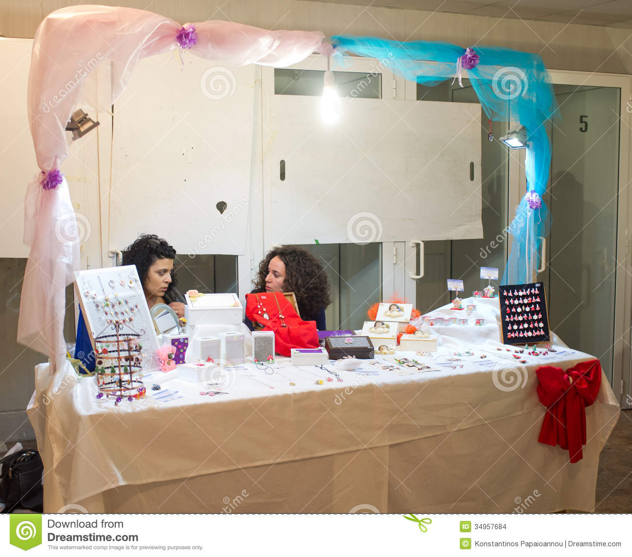 Exhibition Stand Activities : Street market for the halloween holiday editorial stock
