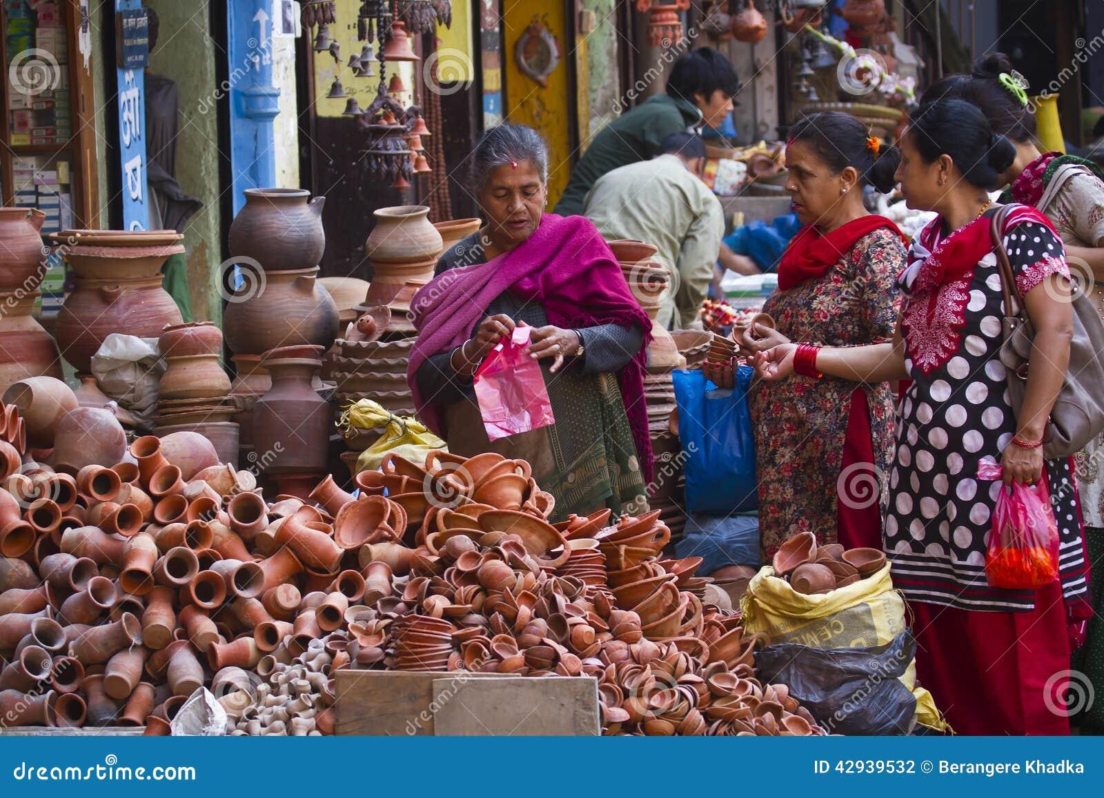 Street market in Kathmandu, Nepal