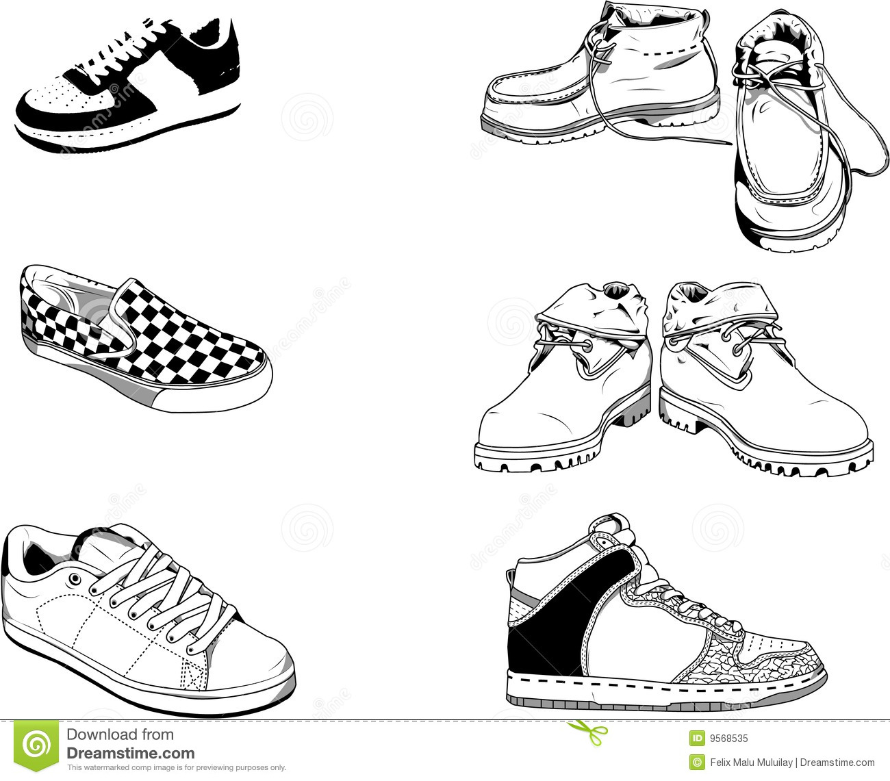 How To Draw Leather Shoes