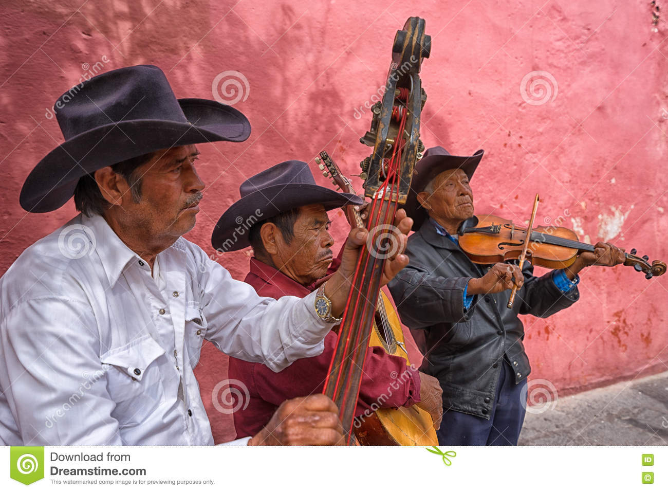 Street musicians in mexico