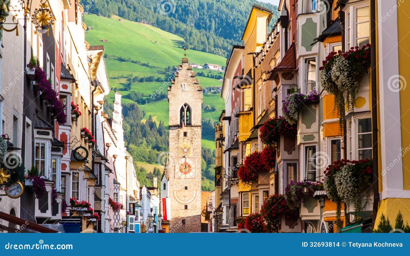 Vipiteno Italy  City pictures : Street Of Old Europian Town Vipiteno, Italy Stock Images Image ...