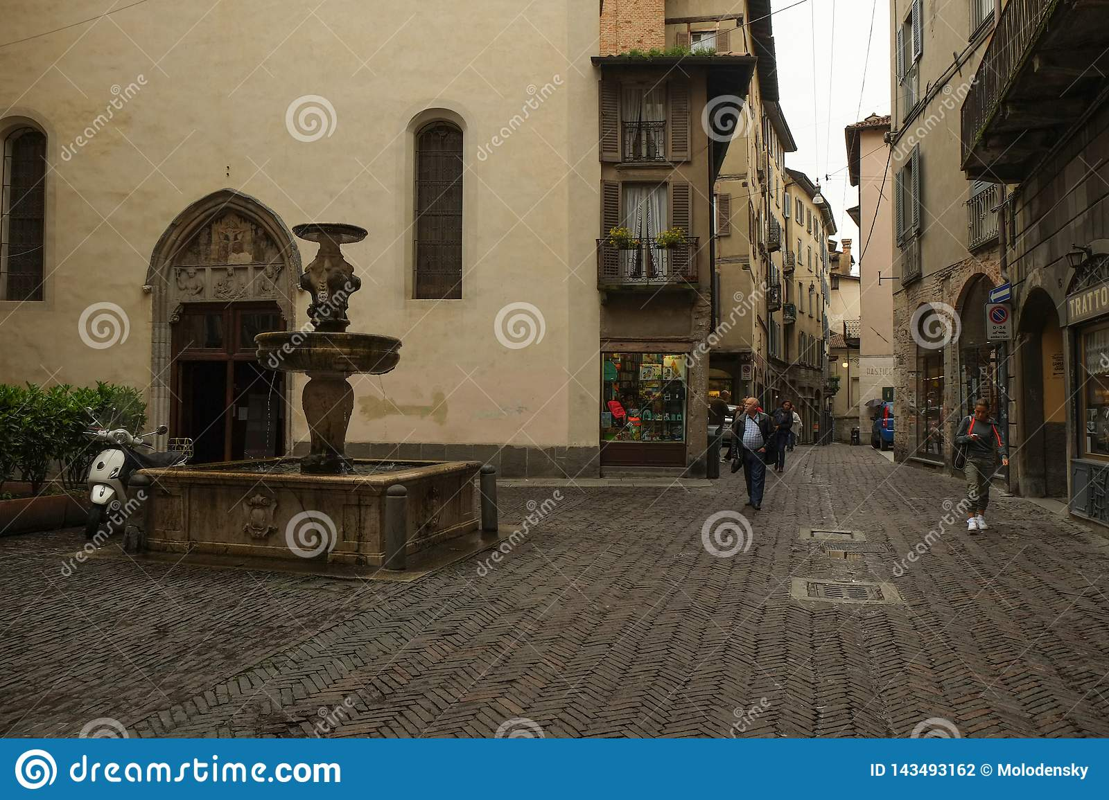 The Old Town in Bergamo, Italy