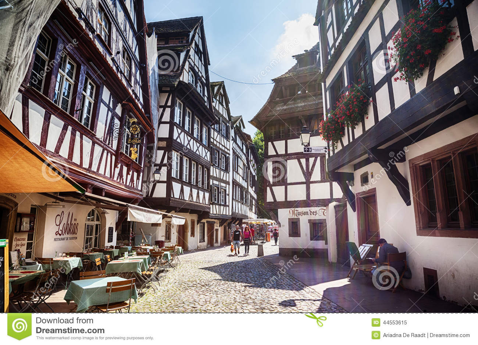 street of petit france part of old town strasbourg france editorial image image of. Black Bedroom Furniture Sets. Home Design Ideas