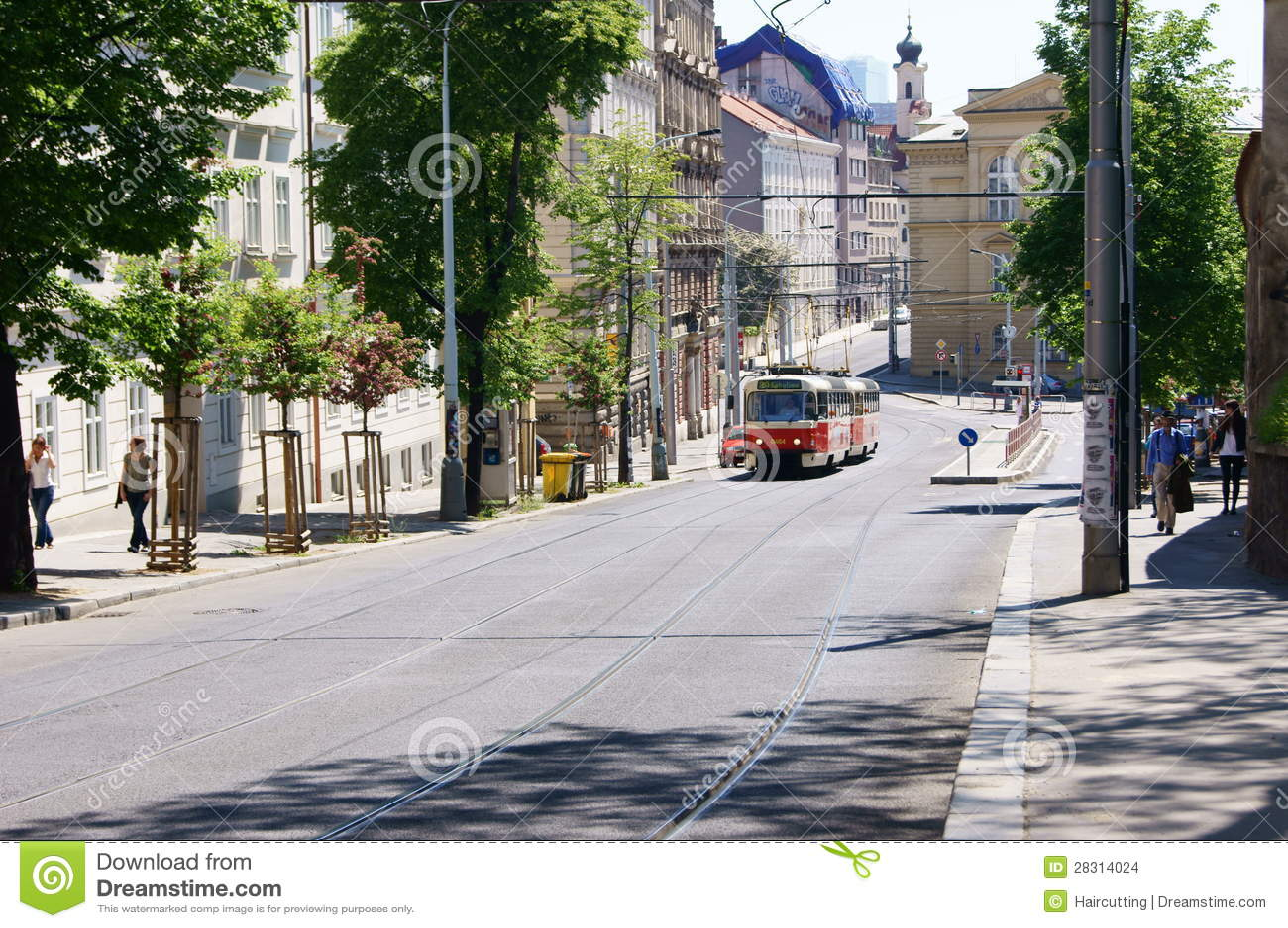 old tram prague street - photo #34