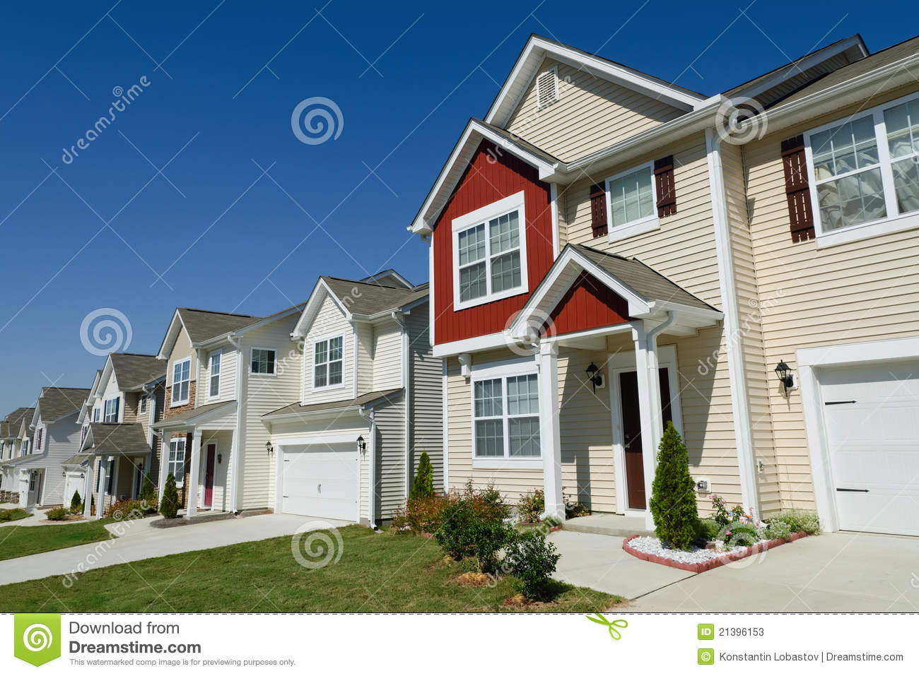 Home Design App Neighbors Street Of Residential Houses Stock Photos Image 21396153