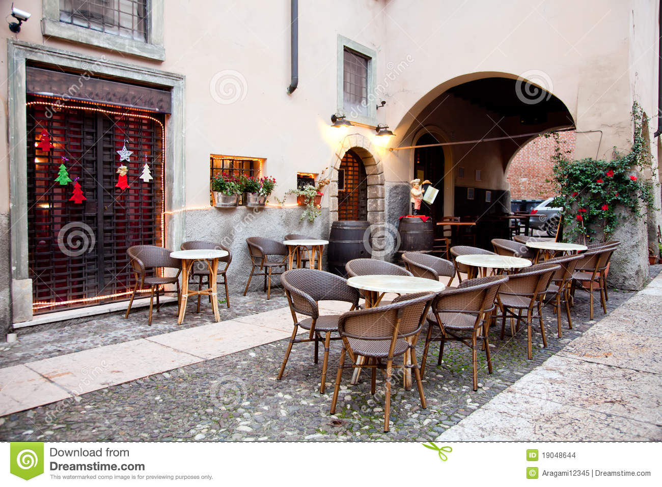 Street Restaurant In Verona Italy Stock Images Image