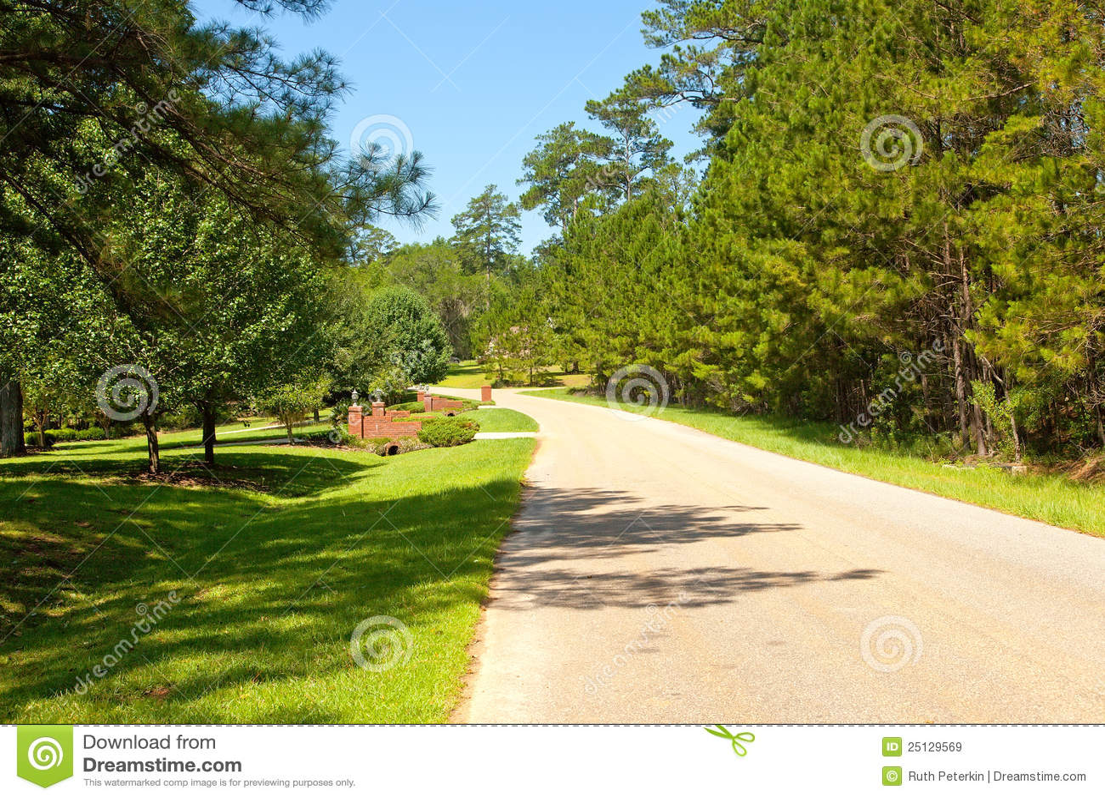 Street in Rural Community stock image. Image of ...