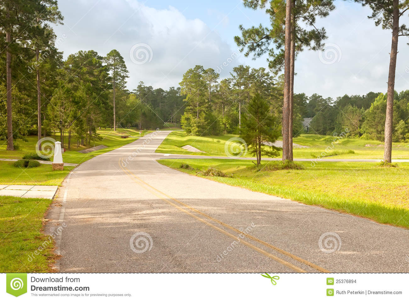 Street In Rural Florida Community Stock Images - Image ...
