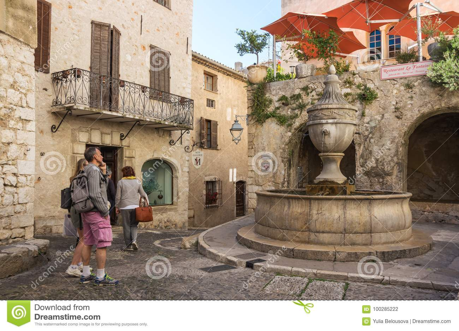 Saint Paul De Vence Art street of saint-paul-de-vence editorial photography - image