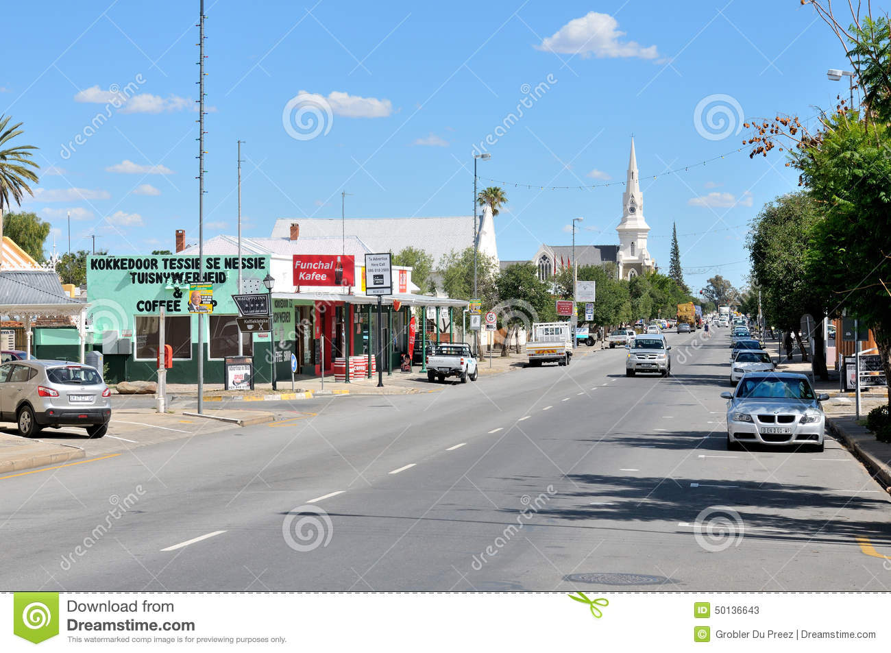 Street Scene In Beaufort West Editorial Stock Photo