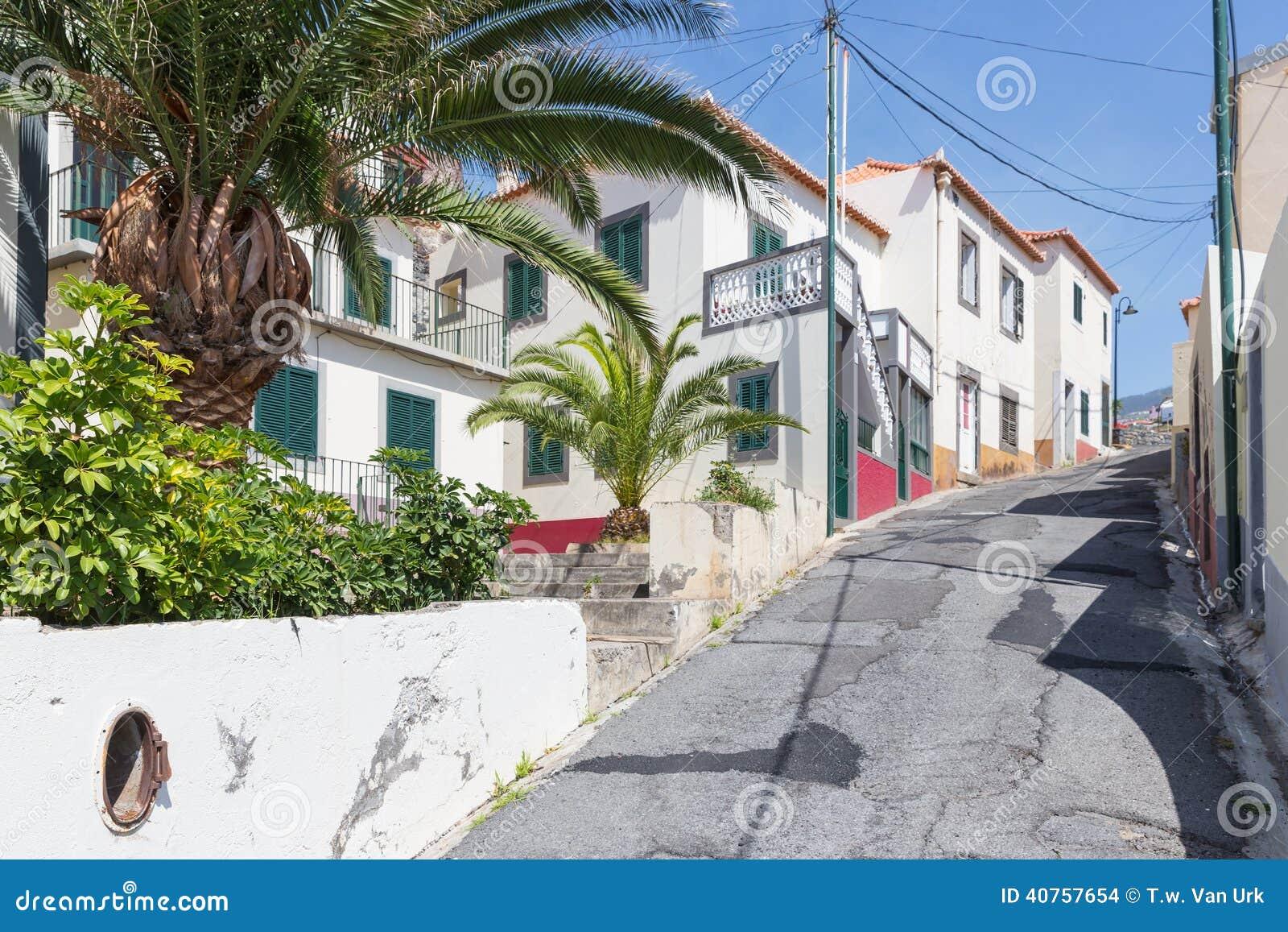Street scene of Camara do Lobos at Madeira, Portugal