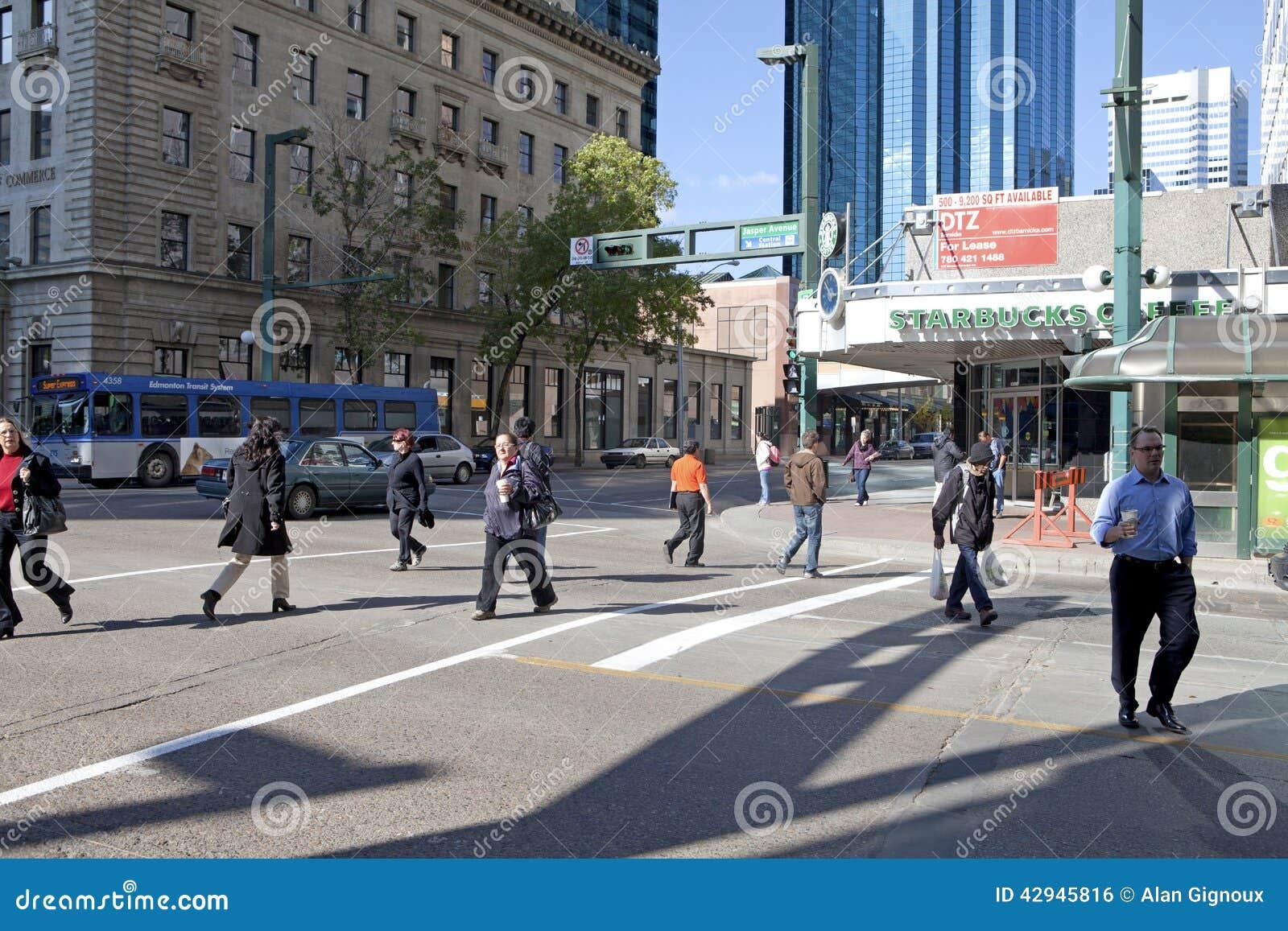 A street scene, Edmonton, Canada