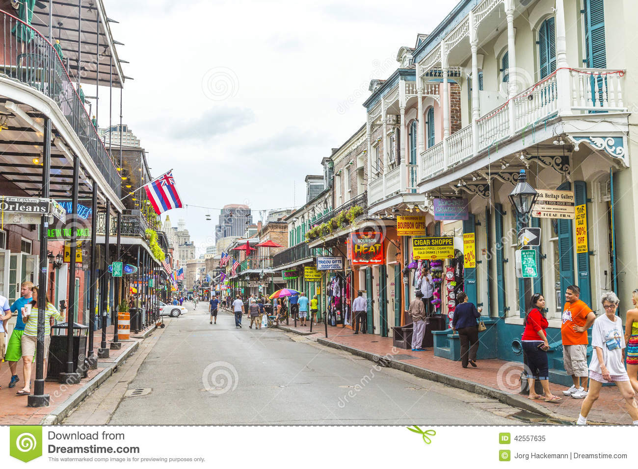 NEW ORLEANS, LOUISIANA USA - JULY 16, 2013: historic buildings in the ...