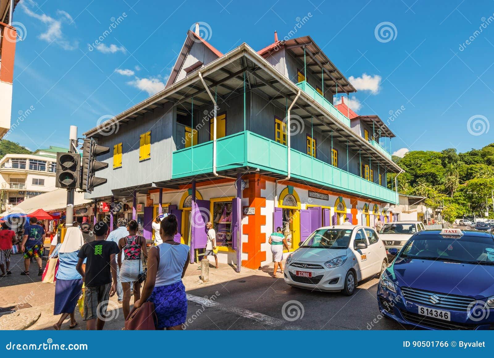 street scene in victoria seychelles indian ocean east africa