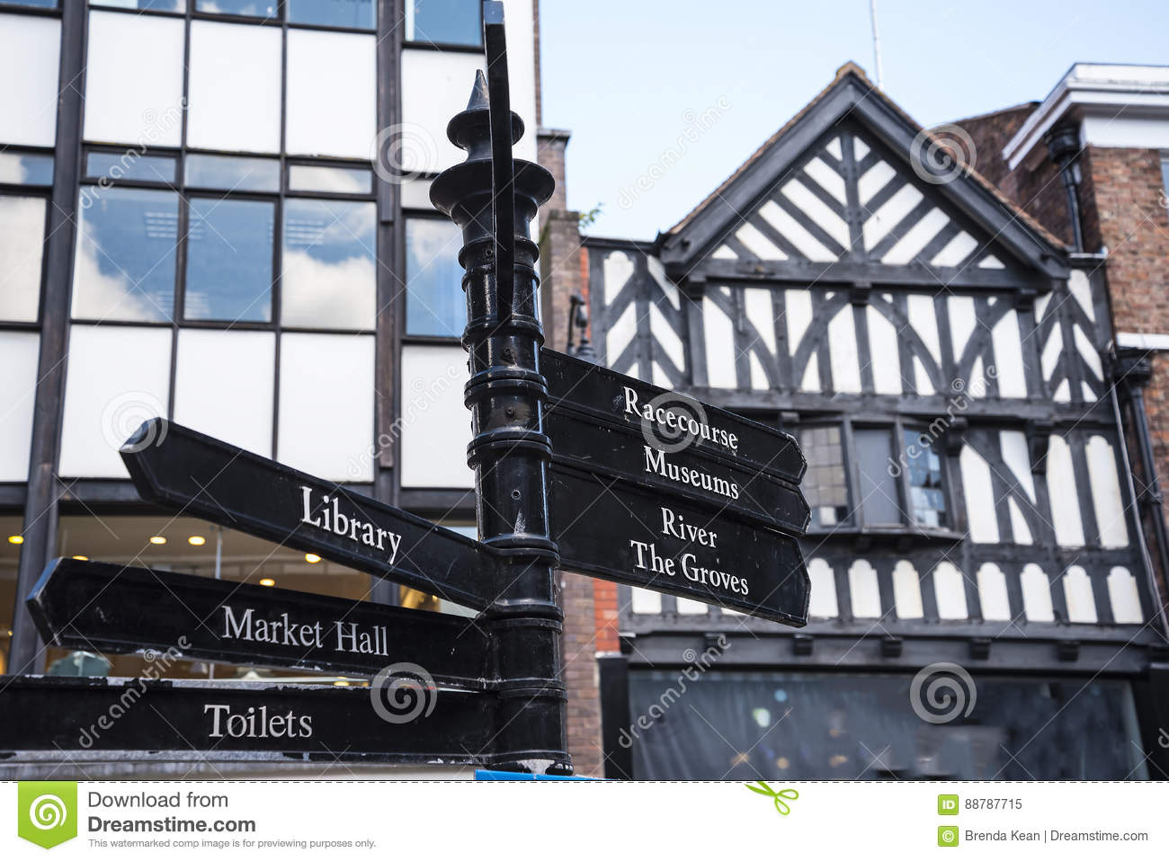 Street Scenes in Chester England