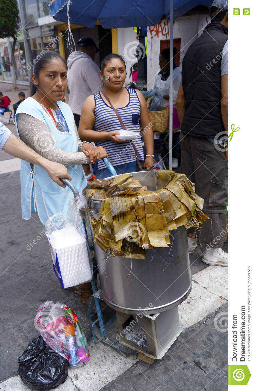 Street seller mexican tamales