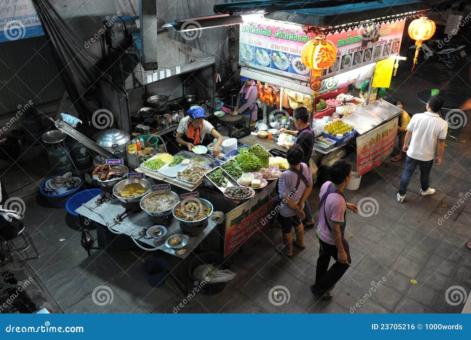 Street Side Restaurant Kitchen in Bangkok