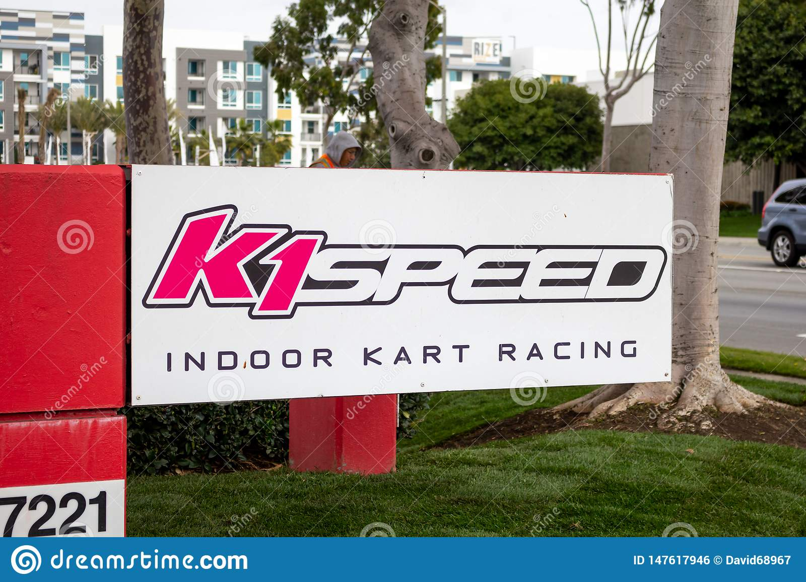 K1 Speed building sign