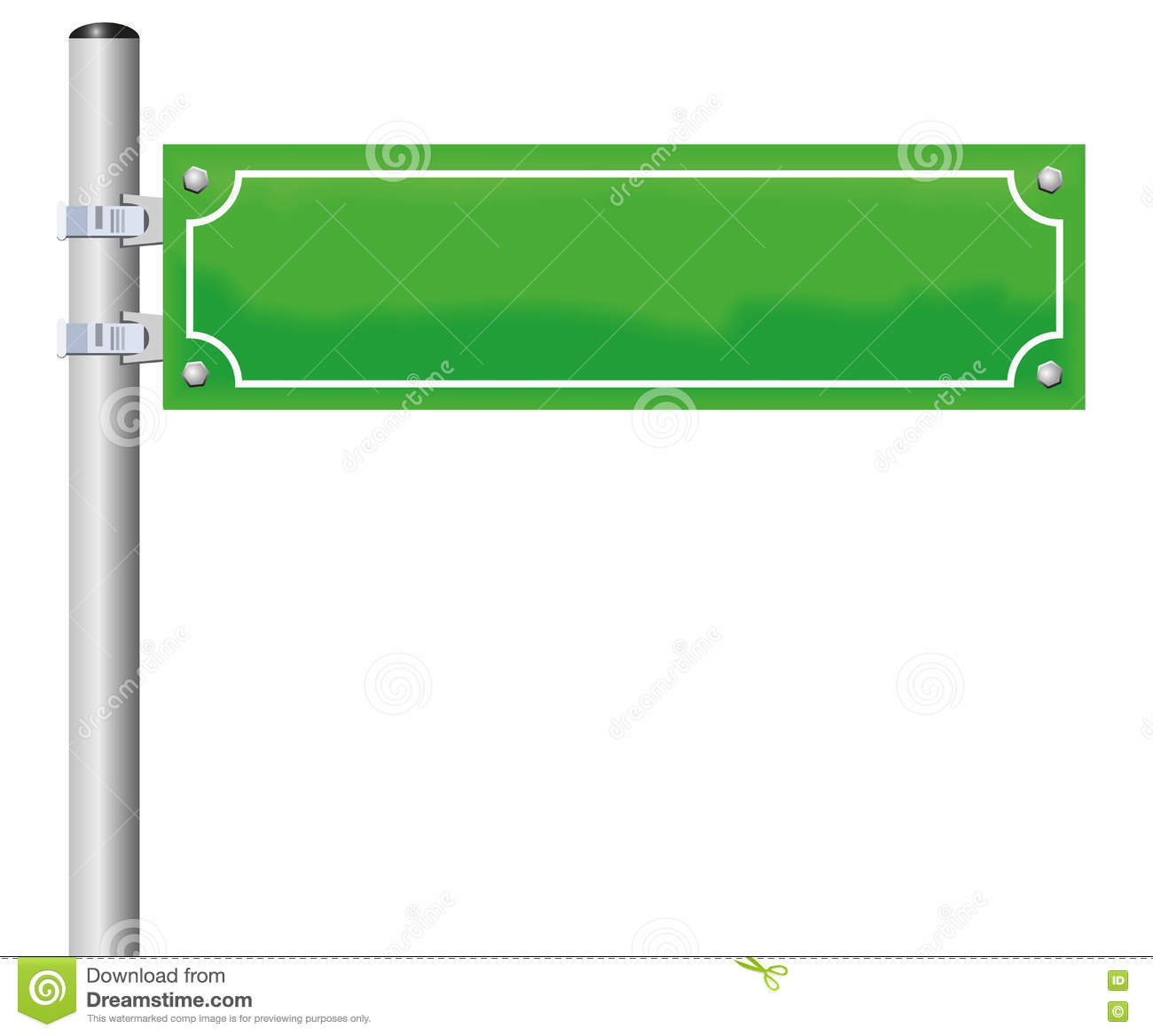 street sign blank green stock vector image of traffic
