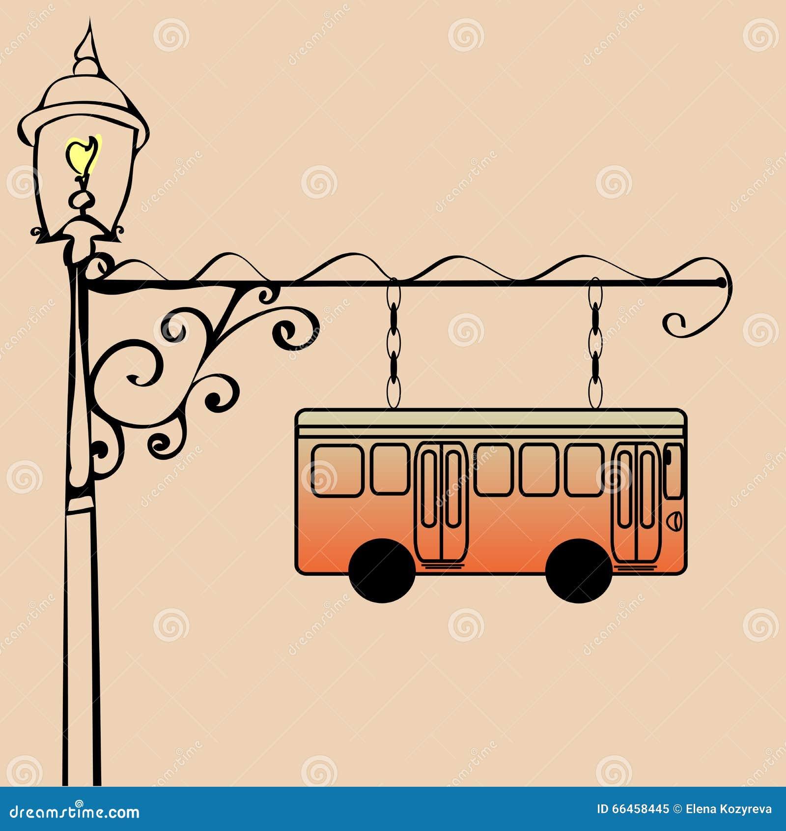 bus stop picture Vintage