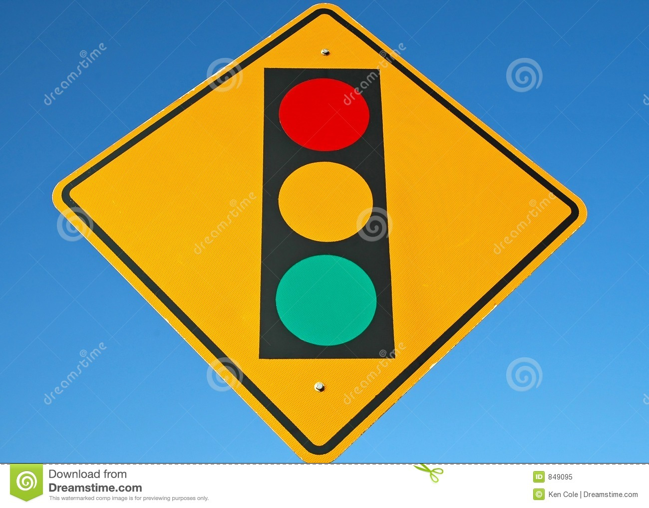 Street Sign - Traffic Light Ahead