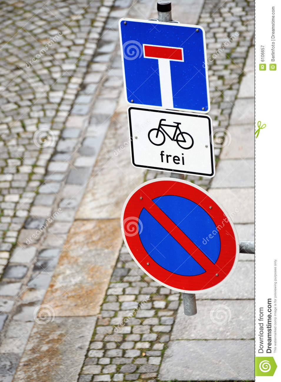 Street Signs In Germany Stock Image Image Of Pavement 6106657
