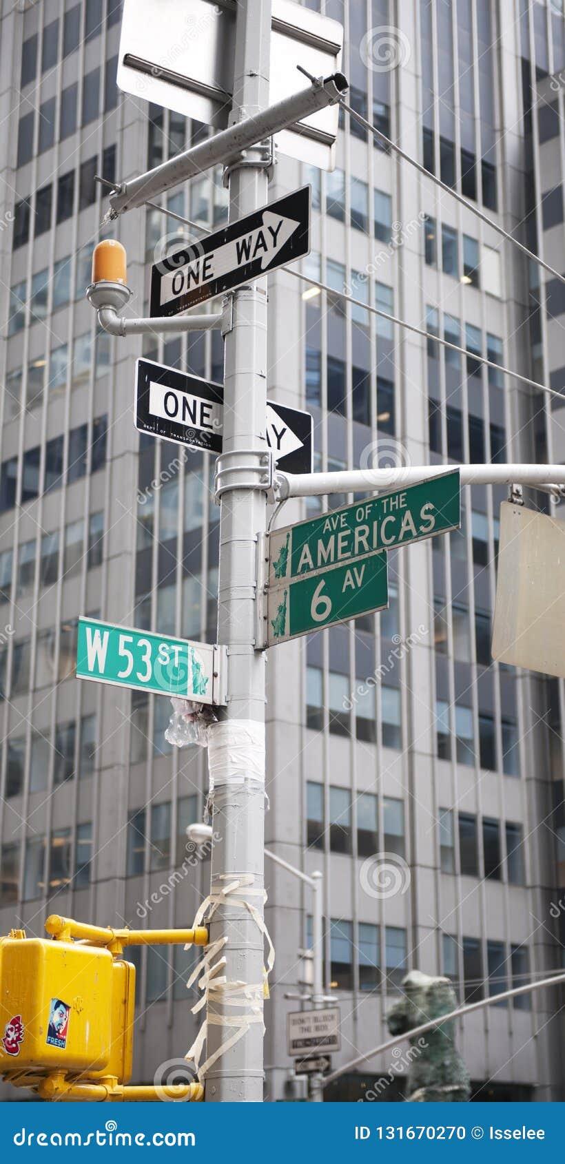 Street signs in New York City, New York, USA