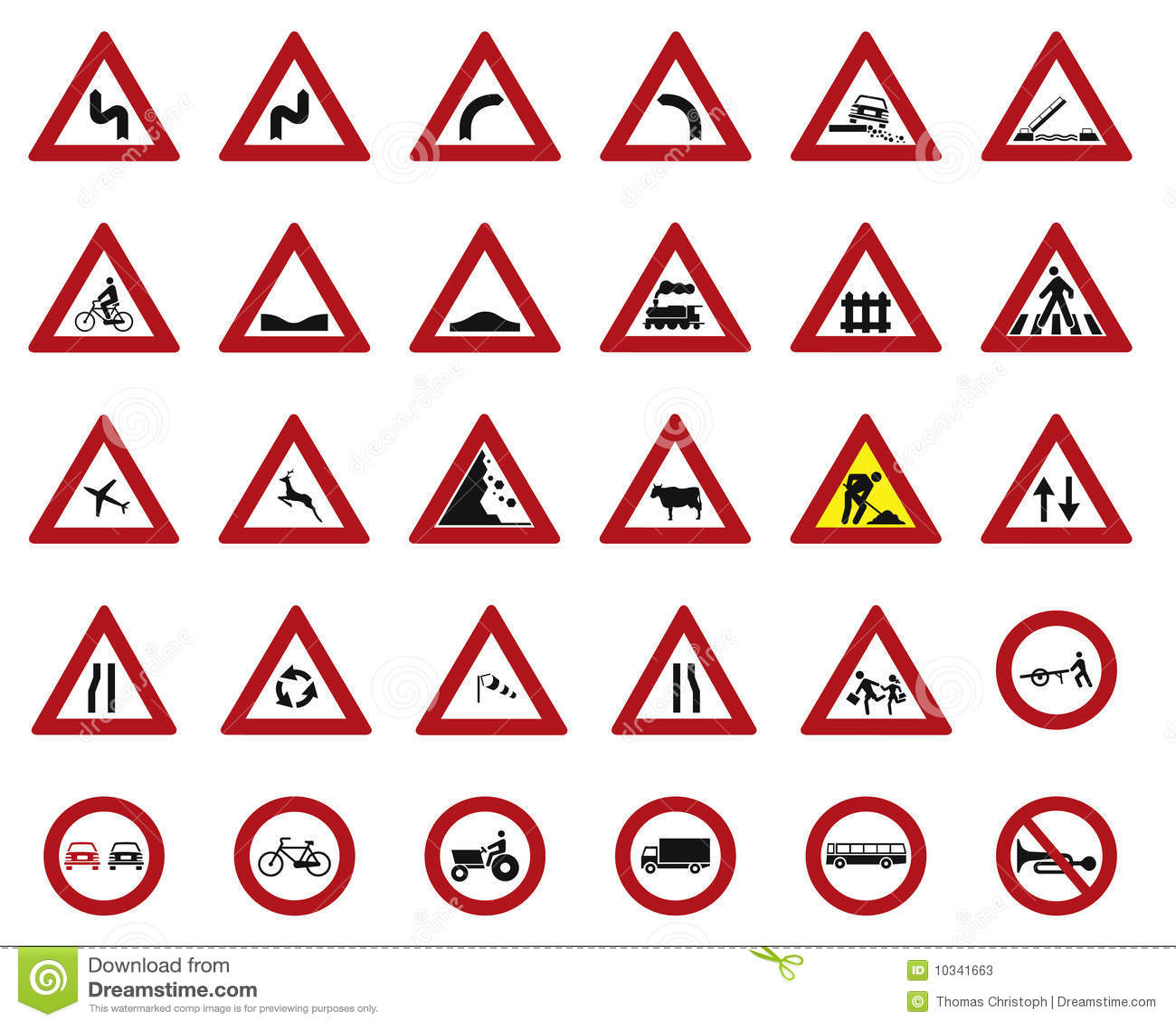 funny warning signs symbols