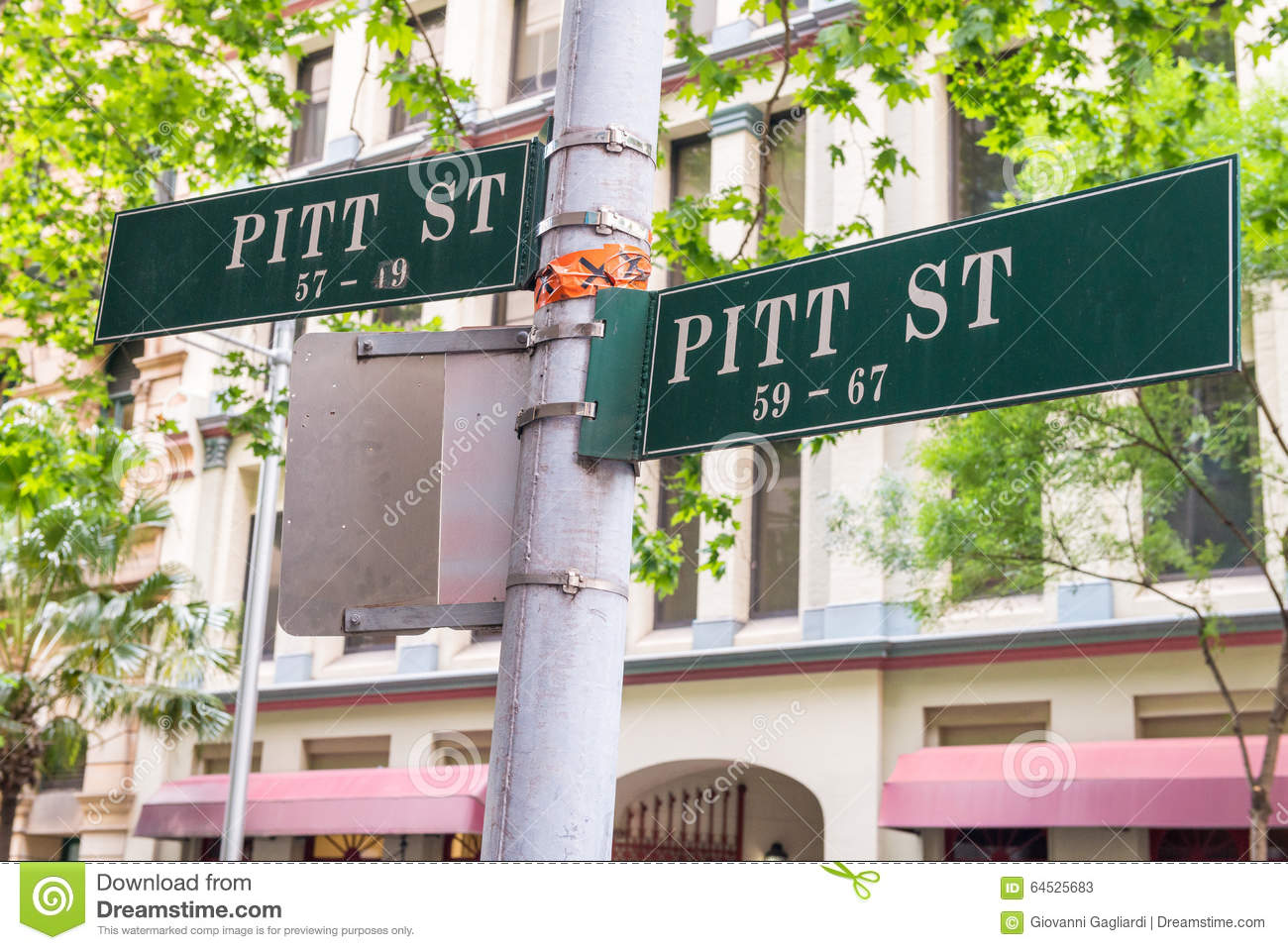 Street signs in Sydney road intersections