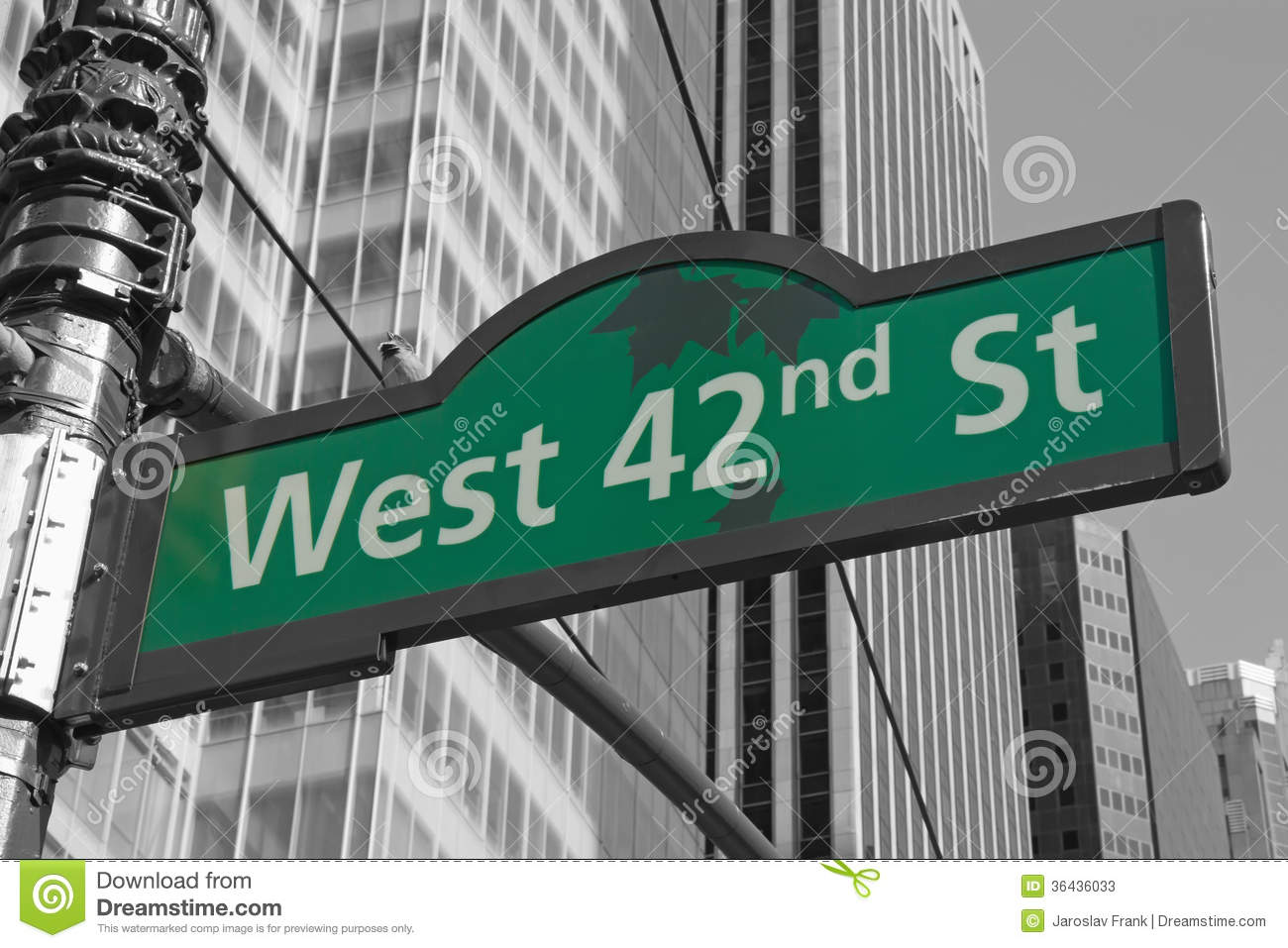 Street Signs For West 42nd Street In NYC Editorial Stock ...