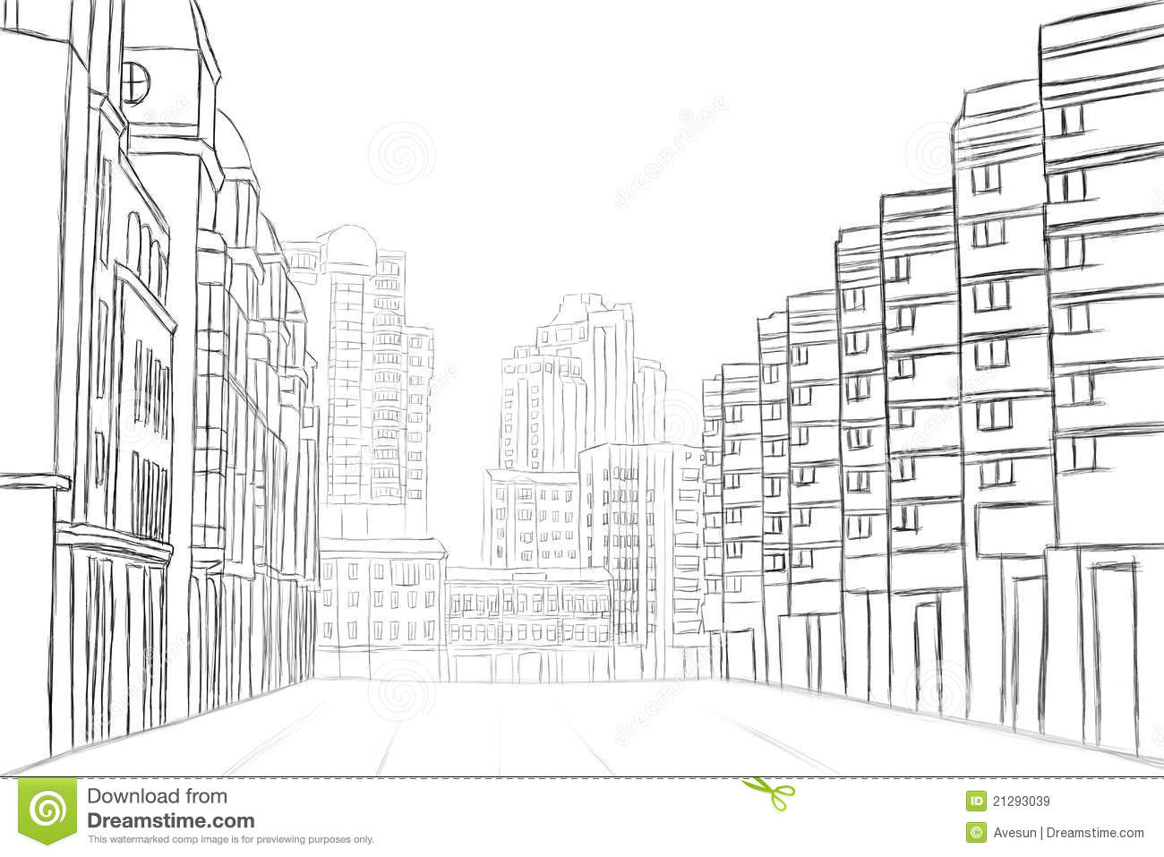 Street Sketch Stock Illustration Illustration Of Abstract