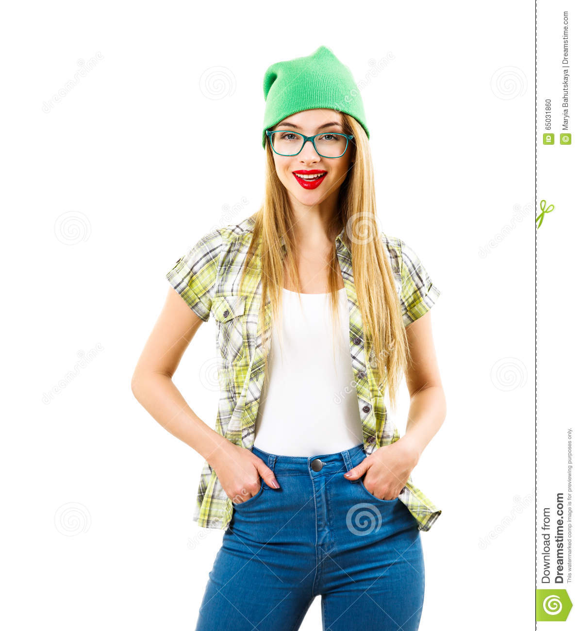 Street Style Hipster Girl Isolated - 125.5KB