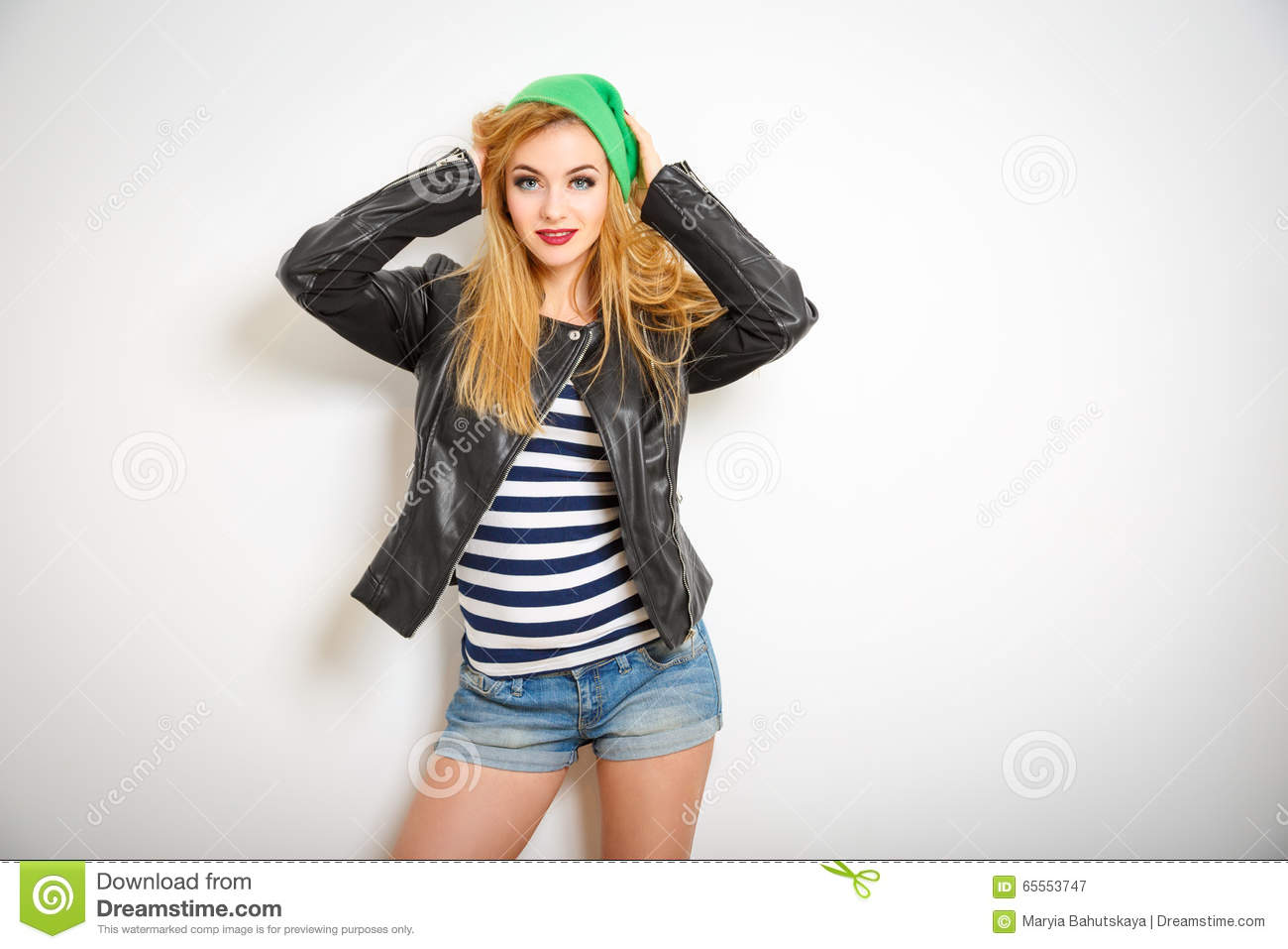 Street Style Hipster Girl In Spring Clothes Stock Image Image 65553747