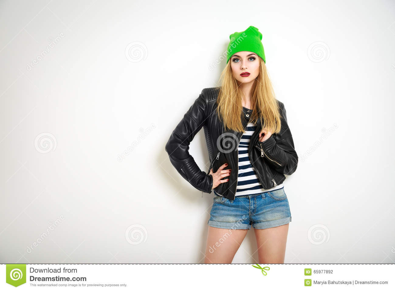 Street Style Hipster Girl. Summer Fashion. Stock Photo ...