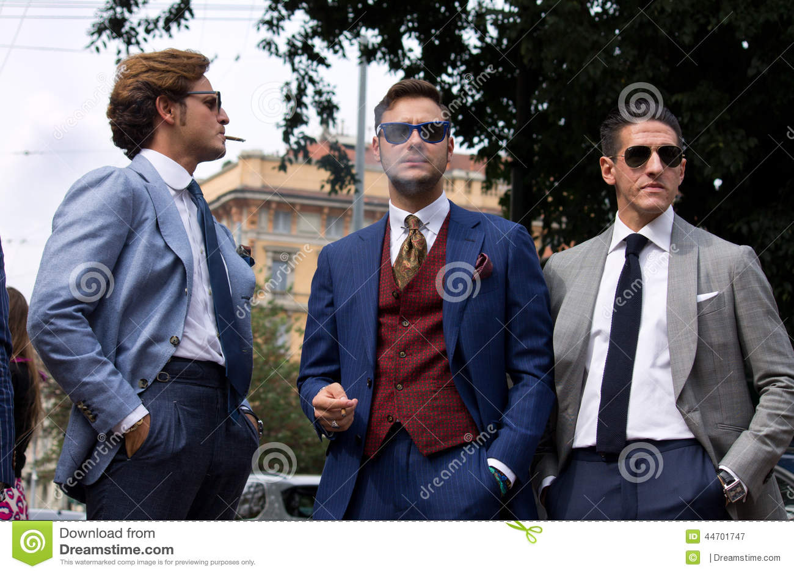 Street style during milan fashion week for spring summer 2015 editorial photography image Fashion week 2015 men s hairstyle